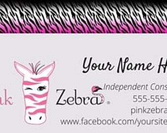 Business cards zebra design gallery card design and card template premium zebra print cards printable business cards printable pink zebra printed business cards two sided pink colourmoves