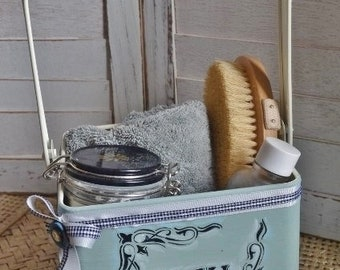 Hand Painted Bathroom Caddy
