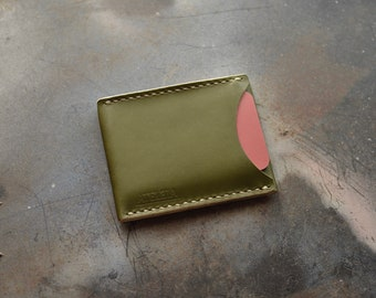 ATELEIA Slim, 3 Pocket Wallet - Olive Green