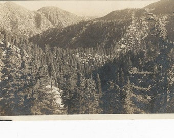 1900's Vintage RPPC Postcard of Landscape near Cold Brook Creek Camp