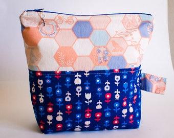 Large Knitting Bag- Katarina Roccella's Inblue  (free shipping!)
