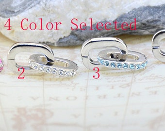 Excellent quality Two Loops Pendant ,Pink , White , Blue,Lavender Crystal Pendant,platinum plating Pendant Nickel free,Shiny Faceted Crystal