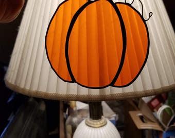 Pumpkin Stained Glass Sun Catcher