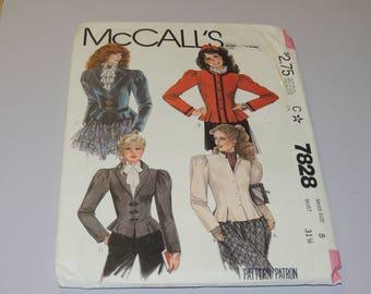 Uncut Sz 8 McCalls 7828