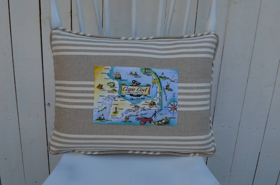Cape Cod Lobster Postcard Pillow ( available in 3 styles and 2 prices)