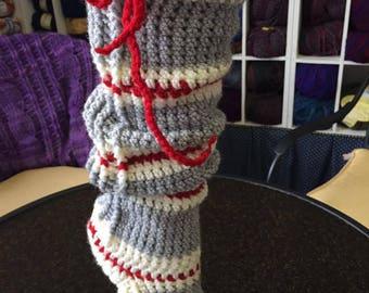 Sock Monkey Reading Socks Crochet Pattern
