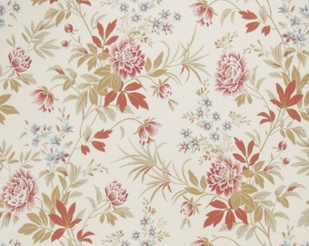 SALE ~ Fabricut Fabric Florette Rouge French General Fabric by the yard