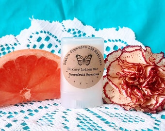 Grapefruit Lotion Bar, Grapefruit geranium, geranium Lotion bar, essential oil lotion, vegan lotion bar, organic lotion bar, solid lotion