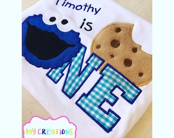 Cookie Monster First Birthday Shirt
