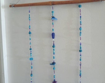 Blue Glass Wind Chime