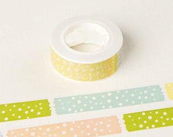 Masking tape-pastel - Washi tape polka dot 10 m roll