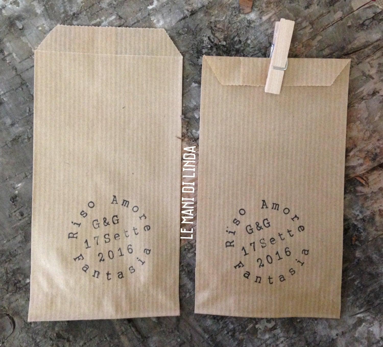 10 mini sacchetti porta riso confettata in carta kraft - Porta sacchetti ...