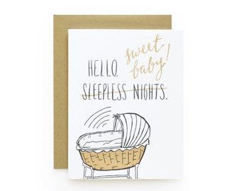 Sweet Baby - letterpress card