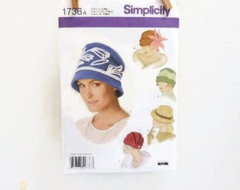 Retro Ladies Hat Pattern In Five Cloche Styles NIP