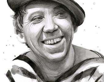 Yuriy Nikulin, Юрий Никулин, Portrait, Russian Actor, Clown, Юрий Никулин портрет, Nikulin Art, Archival Print