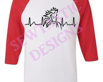 Horse Heartbeat Cut File, Cricut, MTC, SCAL, Silhouette, ScanNCut, SVG