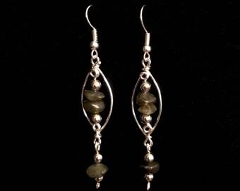 Crystal Dangling Earrings - Handmade