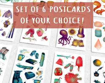 Set of 6 cards of your choice!