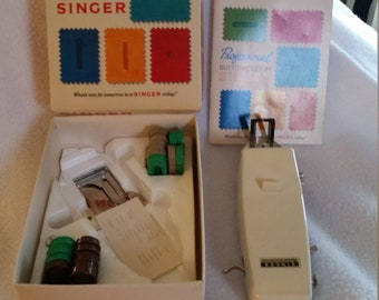 Vintage Professional Button Holer by Singer Sims 4642 381116 for Slant Needle Zig Zag Sewing Machines