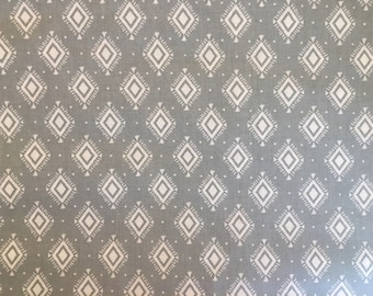 Gray fabric by the yard - gray southwest fabric - southwestern fabric - geometric fabric - modern fabric - southwest fabric - Aztec fabric