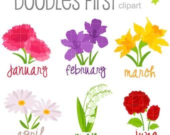 Birth Month Flower Etsy