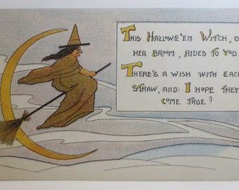 Antique Halloween Postcard S&W Series 1006