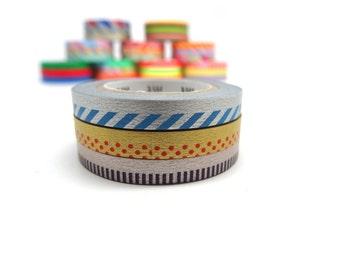 MT Slim Deco C Washi Tape Set, Metallic Washi Tape Set