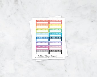 Class Cancelled Planner Stickers