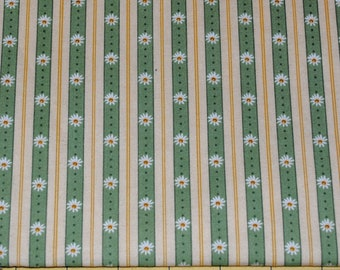 Fat Quarter Dainty Daisy Striped Fabric