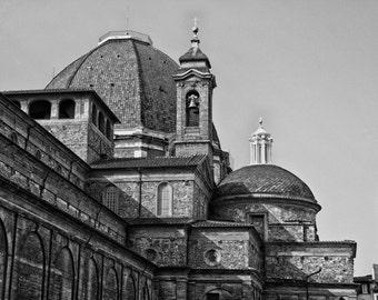 Florence Italy - Fine Art Photograph - Basilica of San Lorenzo Black and White