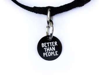 Pet Collar Charm // Better Than People