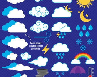 Weather Clipart Clip Art Vectors, Weather - Commercial and Personal Use