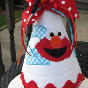 Elmo birthday,  party hat,  first  birthday elmo hat free personalization,  party hat,  smash cake hat,  birthday hat