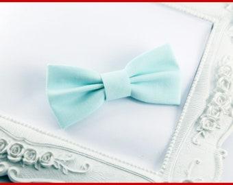 Green Mint bowtie hair bow