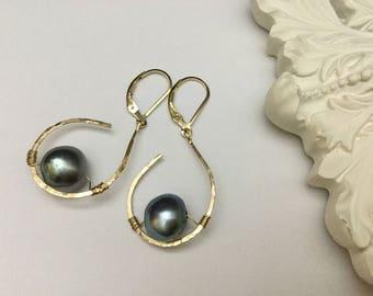 14k Gold Filled Pearl Earrings