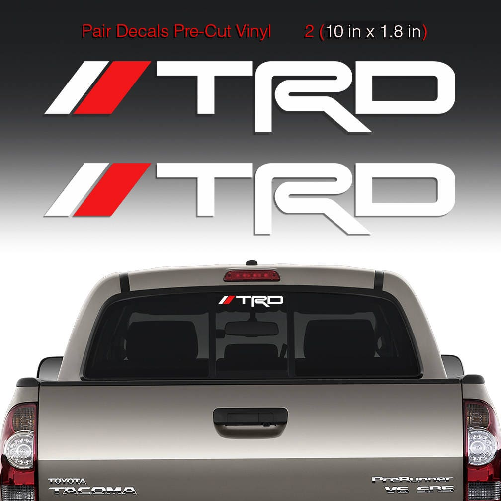 TRD Sticker Decal Windshield Rear Mirror Window Toyota Tacoma