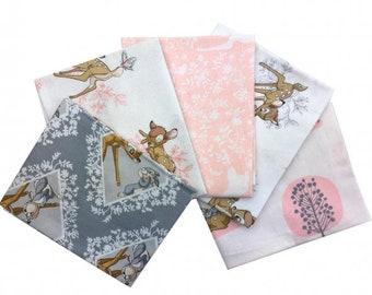 Bambi Fabric collection - fat quarter bundle 5x fabrics