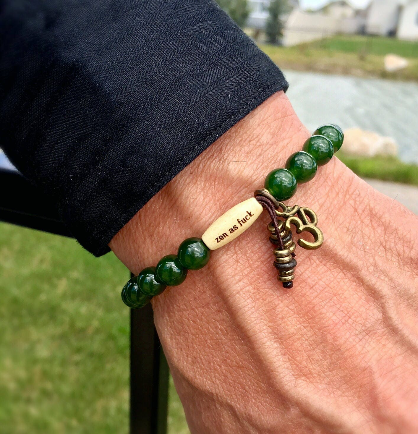 f listing fullxfull il zen yoga gemstones mens jade as grade jewelry fck high om bracelet wrist ck success mala beads meditation wealth