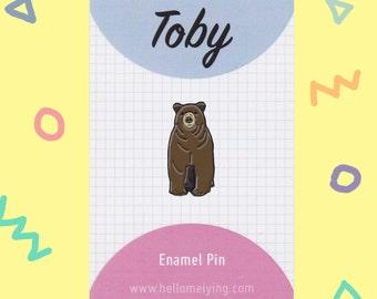 Toby the Bear, Enamel Pin Badge