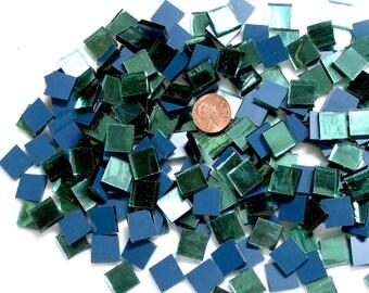 "Light Green Mirror Mosaic Tile ""Tree Foil"""