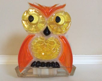 A Wondermold Lucite Colorful Kitschy Owl Napkin or Letter Holder, New Designs.