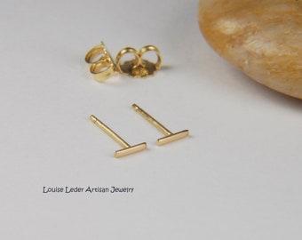 18K Gold Earrings Minimalist Gold Earrings 18K Studs Solid Gold Earrings Luxury Jewelry 18K Gold Jewelry