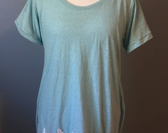 Hi/ Low Swing Top with Lace Trim