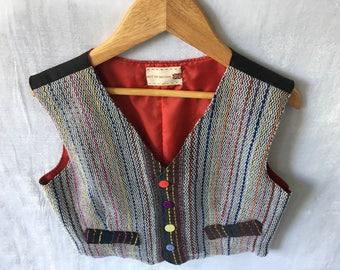 Handwoven Boys Waistcoat