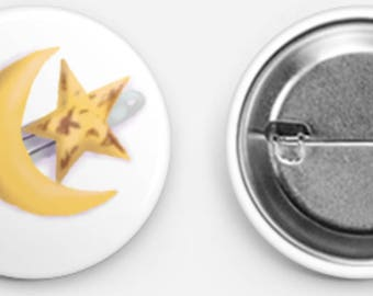Astin's star and moon pin