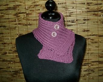Hand Knitted CASHMERE Scarflette Neckwarmer  SYDNEY