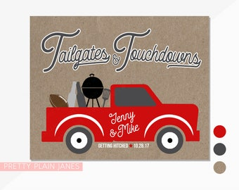 Tailgate Sign | Tailgates & Touchdowns Poster | Tailgate Shower Party Decor | Digital Printable Tailgate Birthday Party Poster