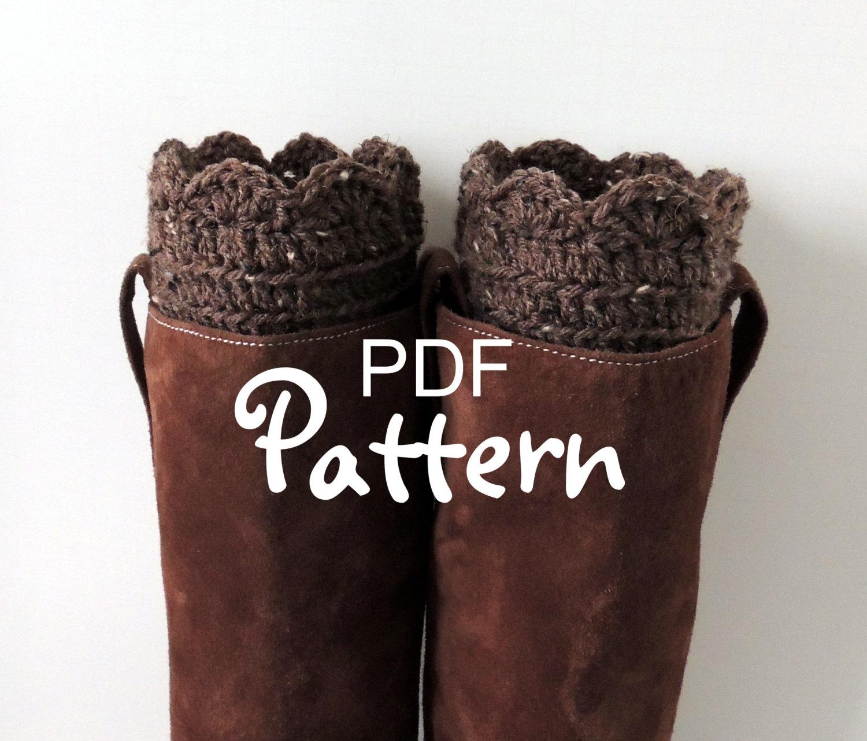 PDF CROCHET PATTERN for FANtastic Boot Cuffs Crochet Boot