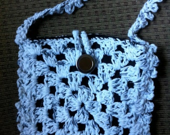 Crocheted Granny Square Purse #142
