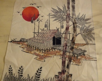 Vintage Batik Panel/Signed